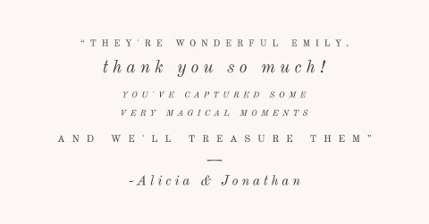 North East Wedding Photographer Lovely Words